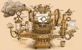 Preusse-Geschichtenschreibmaschine