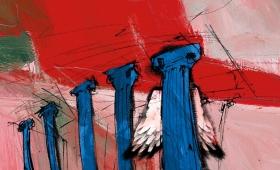 Illustration für Weinettiket | TangoTempel-Ikarus