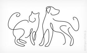 Logo-Muster Hund & Katze