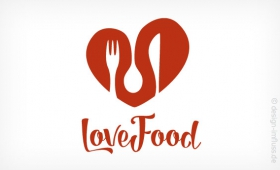 Logo lovefood Muster