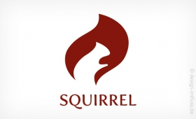Logo squirrel Muster