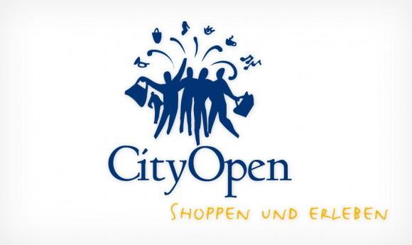 Logo für die Aktion »City Open« des City-Managements Leipzig