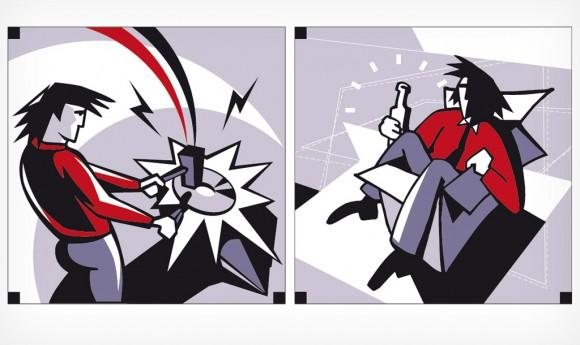 Illustrationen für Eigenwerbung