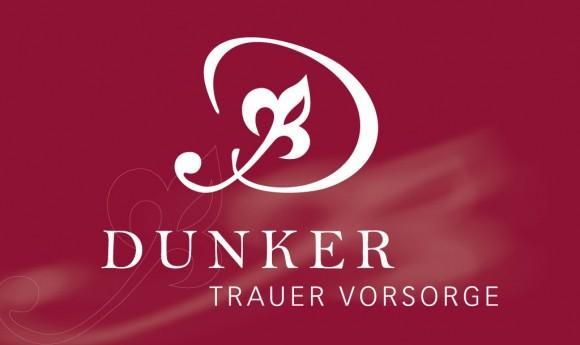 Logo invers für das Bestattungsunternehmen Dunker in Leipzig