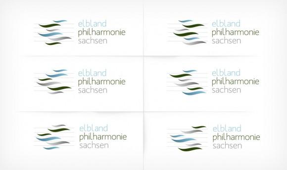 dynamisches Logo als Alternative der Elbland Philharmonie Sachsen