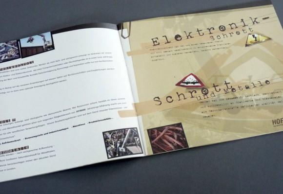 Folder innen für Hofmann Entsorgung, Rastatt