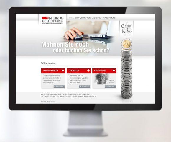 Webdesign für die Finanzfirma Kronos Delcreding