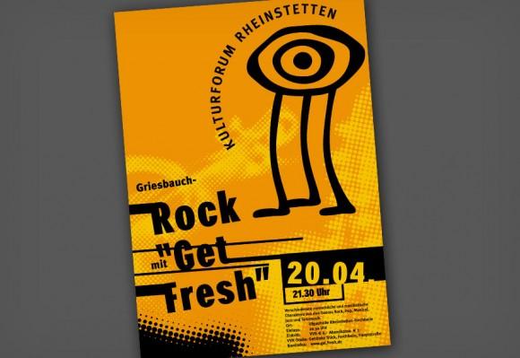 Plakat für das Kulturforum Rheinstetten