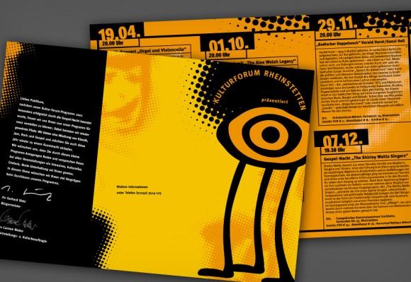 Flyer für das Kulturforum Rheinstetten