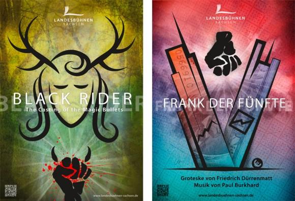Premiereplakate Black Rider und Frank der Fünfte