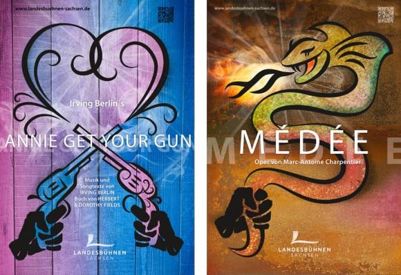 Premiereplakate Annie get your Gun und Médée