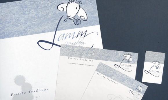 Corporate Design für das Restaurant Lamm am Mauersberg