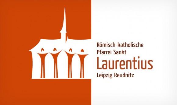 weitere Alternative des Logos der Römisch-katholischen Pfarrei Sankt Laurentius Leipzig Reudnitz