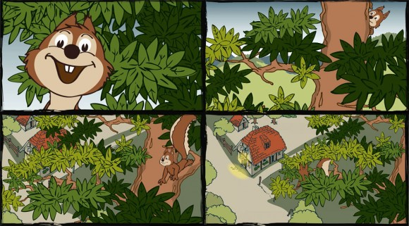 Loerch Haselnuss Destillat Comic Animation 1
