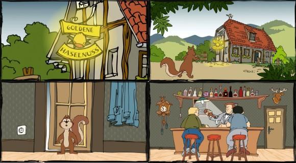 Loerch Haselnuss Destillat Comic Animation 3