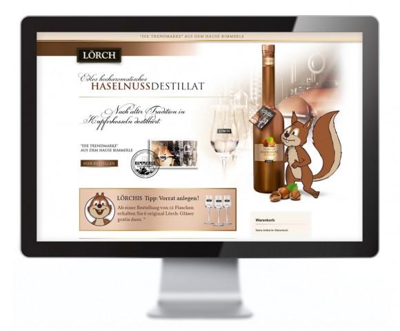 Loerch Haselnuss Destillat Web-Shop-Design