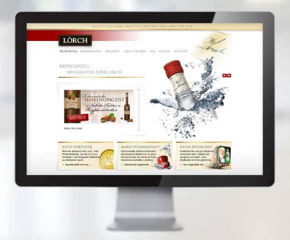Webdesign für Lörch Obstbrände