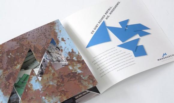 Folder für Mandausch, Firma der Entsorgungs- und Abfallwirtschaft in Frankfurt
