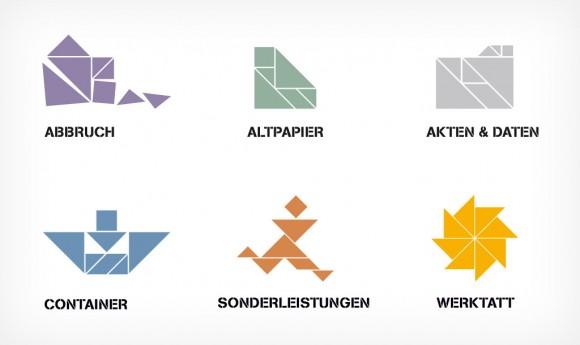 Icons für Mandausch, Firma der Entsorgungs- und Abfallwirtschaft in Frankfurt