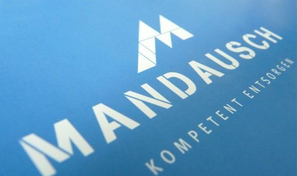 Logo-Variante für Mandausch, Firma der Entsorgungs- und Abfallwirtschaft in Frankfurt