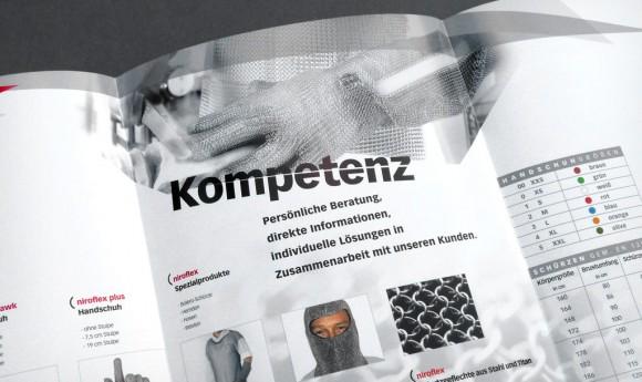 Produkt-Folder innen für Friedrich Münch, Schutzkleidung