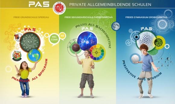 Key Visual Motive der Privaten allgemeinbildenden Schulen PAS