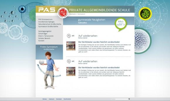 Webdesign 2 der Privaten Allgemeinbildenden Schulen PAS