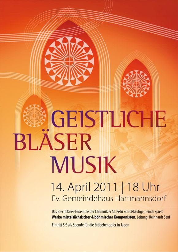 Plakat für die Sächsische Posaunenmission e.V.