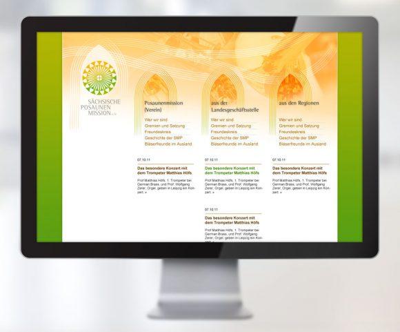 Webdesign für die Sächsische Posaunenmission e.V.