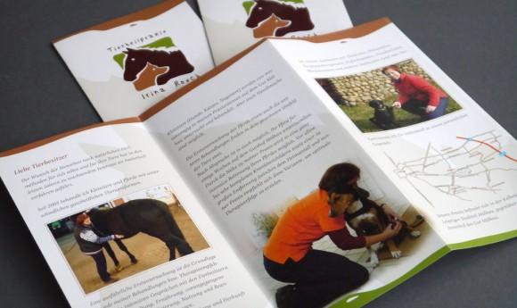 Flyer-Innenseite der Tierheilpraxis Irina Rosch in Leipzig Mölkau