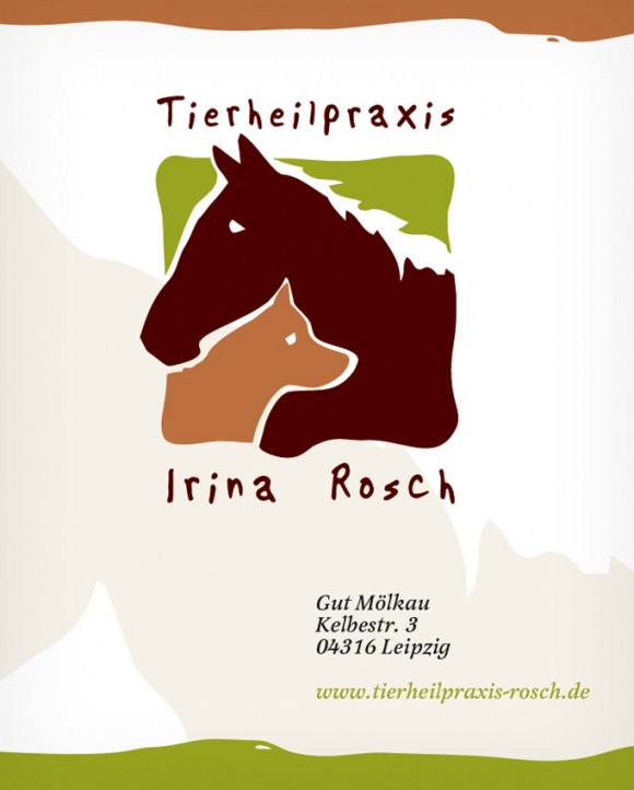 Praxisplakat der Tierheilpraxis Irina Rosch in Leipzig Mölkau