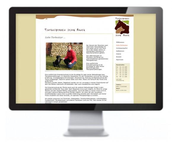 Webdesign der Tierheilpraxis Irina Rosch in Leipzig Mölkau