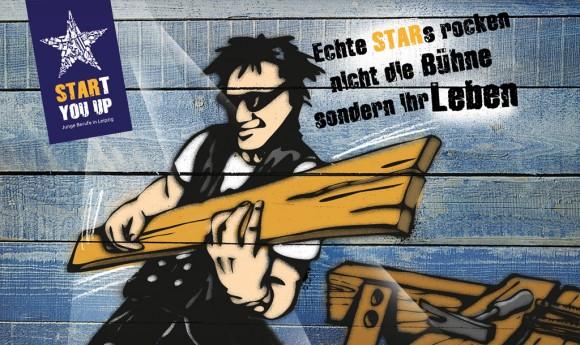 Illustration Graffiti Rockstar