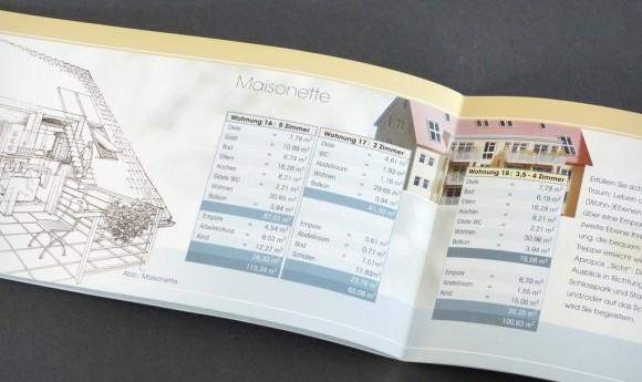 Folder für die Wohnanlage »Casino am Schloss« in Rastatt
