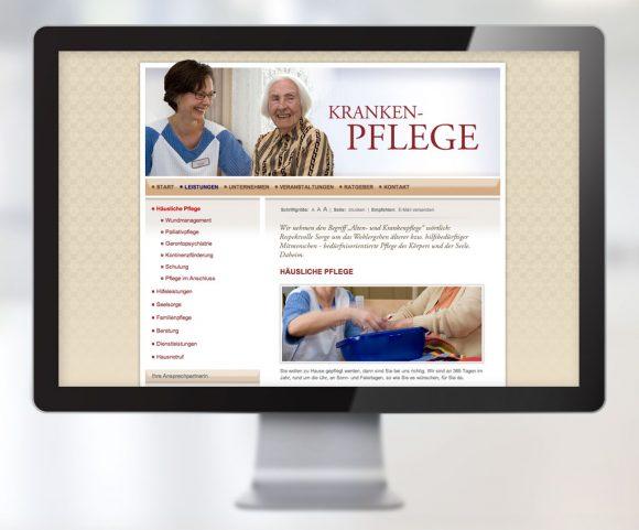 Webdesign für die Sozialstation Achern