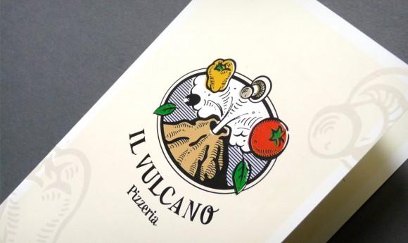Speisekarte der Pizzeria »Il Vulkano« in Rastatt