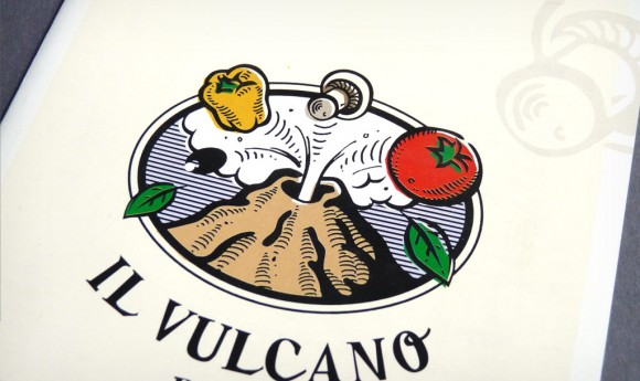 Logo der Pizzeria »Il Vulkano« in Rastatt