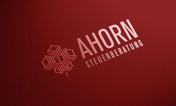 AHORN Steuerberatung Logo partieller UV Lack