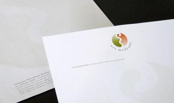 Briefbogen für die ars medendi GmbH in Ehrenfriedersdorf