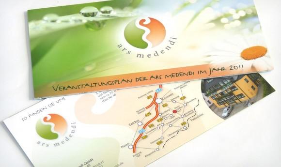Veranstaltungsflyer für die ars medendi GmbH in Ehrenfriedersdorf