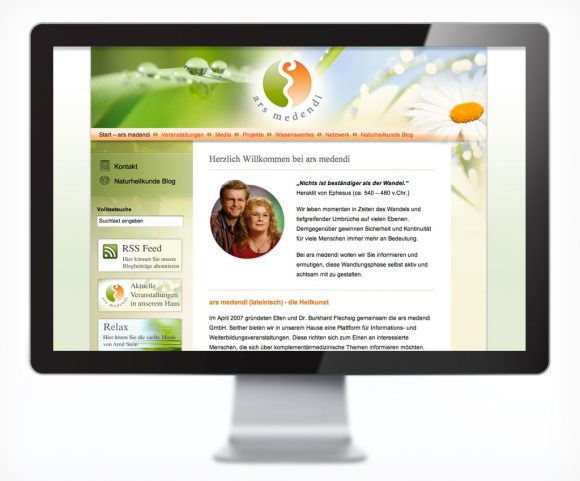 Webdesign für die ars medendi GmbH in Ehrenfriedersdorf