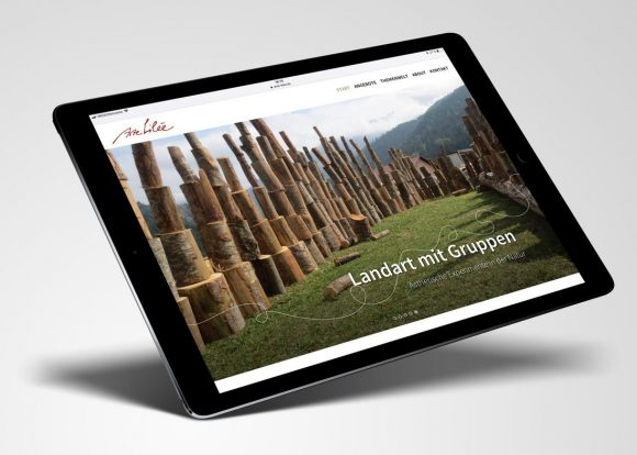 Website arte-lilee auf dem iPad