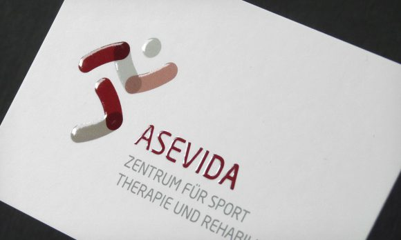 ASEVIDA Visitenkarten mit Relieflack