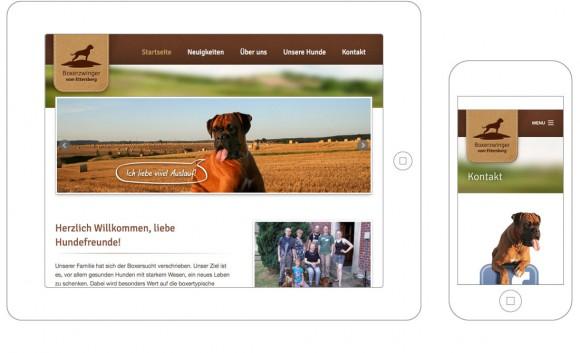 Boxerzwinger - Darstellung auf Smartphone und Tablett