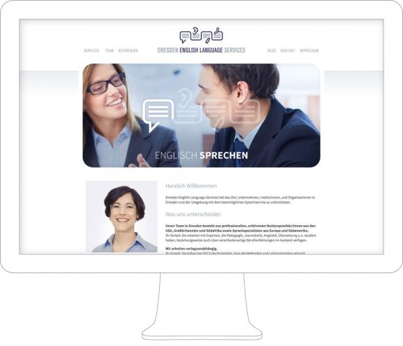 Dresden English Language Services Webdesign