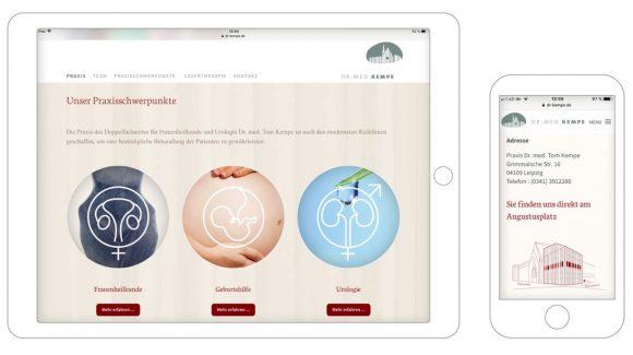 Dr. Kempe - Webdesign für mobile Endgeräte
