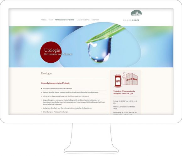 Dr. Kempe - Webdesign