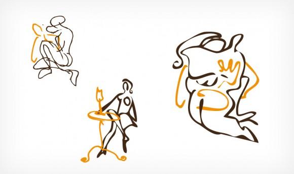 Illustration für ein Café