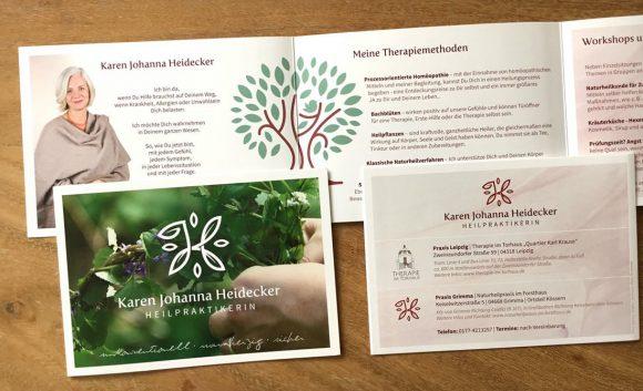 Karen Johanna Heidecker Heilpraktikerin Faltflyer