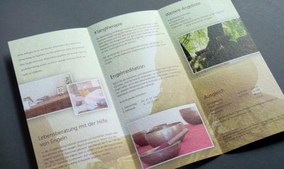 Flyer für die Naturheilpraxis »im ein Klang« Leipzig